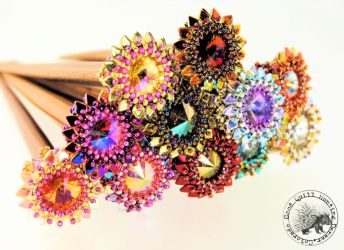 Sun Spots Hair Sticks by GoodQuillHunting