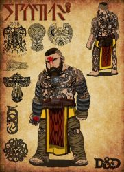 Stovie the Dwarven Monk by SethEyles