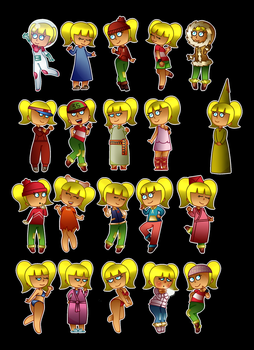 Penny outfits stickers PART 1 by CreativeCuquiLu