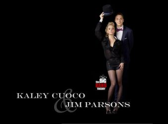 Kaley Cuoco and Jim Parsons by firebirdy89