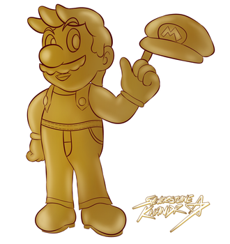 [Commission] Gold Mario by Sylverstone14