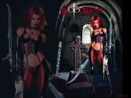 BloodRayne custom Wallpaper by VampiressClaudia