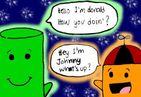 Johnny and Donald by TheBlendies