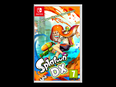 Splatoon 1 Port Boxart Mock-up by ArtificialGreninja