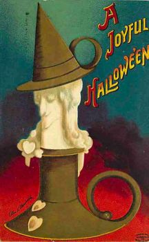 Vintage Halloween - Witchy Candle by Yesterdays-Paper
