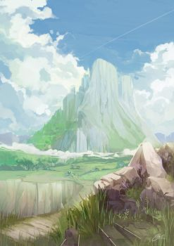 A lonly Mountain by Closz