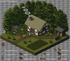Isometric Thatched Cottage by kaztah