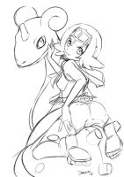 Lana Pokemon Sun Sketch by daronzo83
