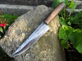 Medieval Forged Kitchen Knife by Tharrk