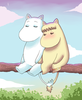 Moomin and Snorkmaiden by Cocodoo