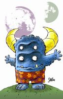 Big Blue Monster by jerrycarr