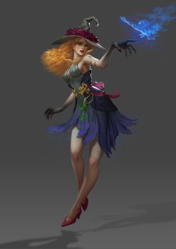 Flora - Witch Concept by Shetrix