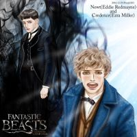 Fantastic Beasts fanart : Newt and Credence by noji1203
