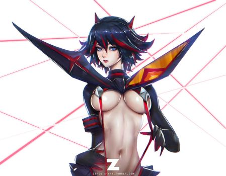 Ryuuko Matoi Sketch 02-2 by Zeronis