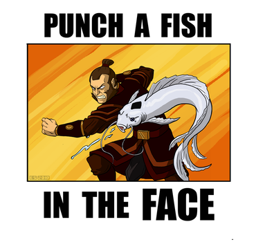 PUNCH A FISH IN THE FACE by Booter-Freak