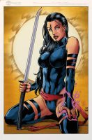 Psylocke_Colored. by Troianocomics