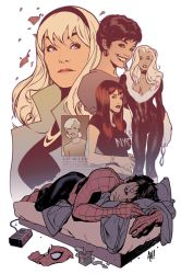 Spidey's Women by AdamHughes