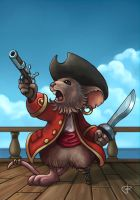 Pirate mouse captain by RUGIDOart