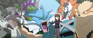 Commission: Friendly Pokemon Team by All0412