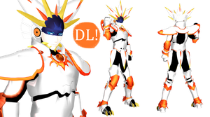 [MMD] Solgaleo Gijinka DL (Pokemon Sun and Moon) by DrStinger
