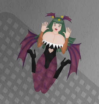 Squashed Morrigan by rickroll19