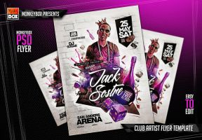 Club Artist Flyer Template by AndyDreamm