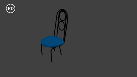 Blender Cafe chair (tall) - PD/CC0 by over2sd