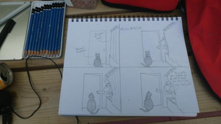 [Sketch] Life With Cats : Let Me Out ! by Ishimaru-Chiaki