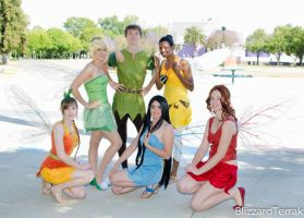 Peter and his ladies by NovemberCosplay