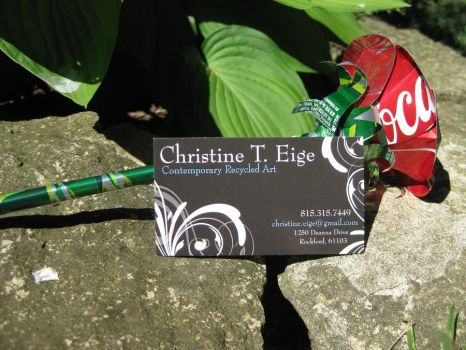 Recycled PopCan Red Rose by Christine-Eige