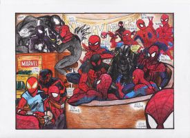 Spidey Party by HornbillKun