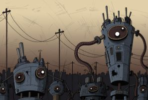 The walk of the robots by Si2