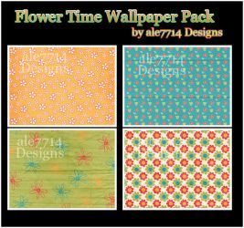 Flower Time Wallpaper Pack BB by ale7714