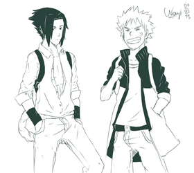 Naruto and Sasuke by NLeicam