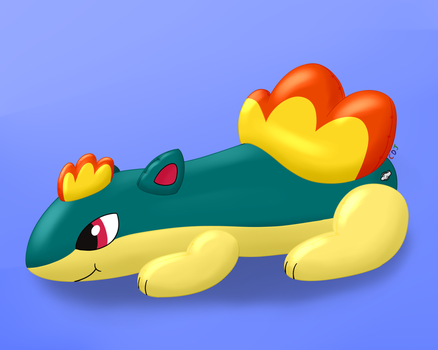 Quilava Pooltoy by CatDogJoe