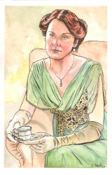 Downton Abbey Lady Mary watercolor... by ssava