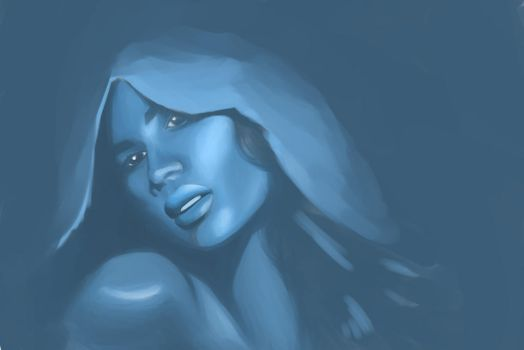 Sketch 1 Blue Girl by gamerscape13