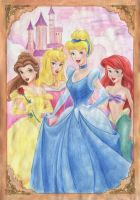 Disney princesses by Veldalis