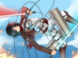Mikasa Jedi by Silent-fly