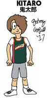 Kitaro in a late 1990s Seattle Supersonics jersey by FromEquestria2LA