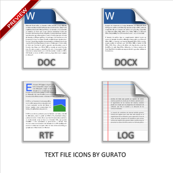 Text File Icons by Gurato