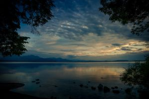 Blue hour at lake Chiemsee - Germany by Akxiv