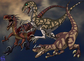 Raptors from Turok by IsisMasshiro