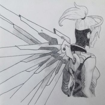 Overwatch - Mercy by frantastic-scribbles
