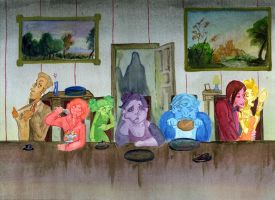 The seven deadly sins gathering by xMorganaArTx