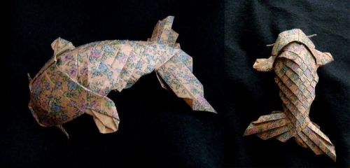 Koi paper fish by FrealaF