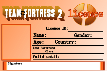 Team Fortress2 Licence - Blank by Akita4ce