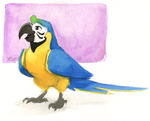 Inktober #28 - Blue and Gold Macaw by OnyxSerpent