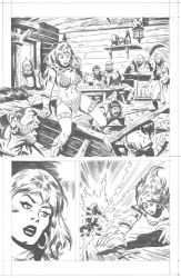 RED SONJA SAMPLE 3 by benitogallego