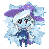 Trixie: Great and Powerful Chibi by AcesRulez13